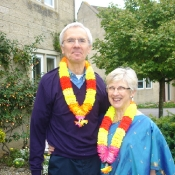 Mike & Alison looking resplendent for their 2010 Coffee Morning