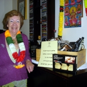 Mary Hewetson with her winning hamper 2010