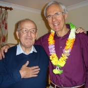 George Elder and Mike Wells at the 2011 Coffee Morning