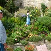 Visitors in the garden
