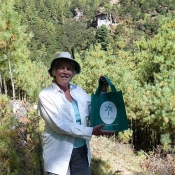 FREDA FERNE WITH HER NTT BAG IN BHUTAN