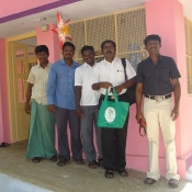 Neem Tree Trust bag with some of the staff at the home in Tirunelveli