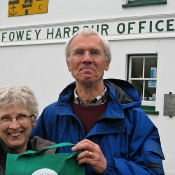 Mike & Alison with their NTT bag at Fowey