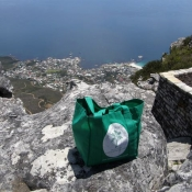 Neem Tree Trust bag on top of Table Mountain