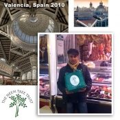 Richard & Babs go shopping with their NTT bag in Europe\'s largest indoor market in Valencia, Spain. November 2010