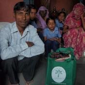Weavers in the village of Savlas in Gujarat