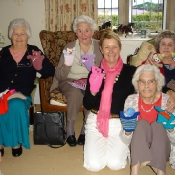 Kathy with the Knitting Ladies from Sutton Benger